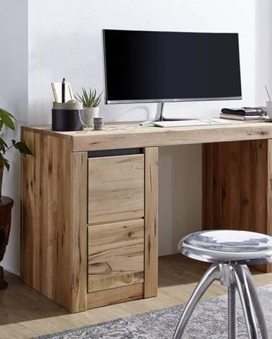 VEVEY Písací stôl 150x50 cm, prírodná, dub