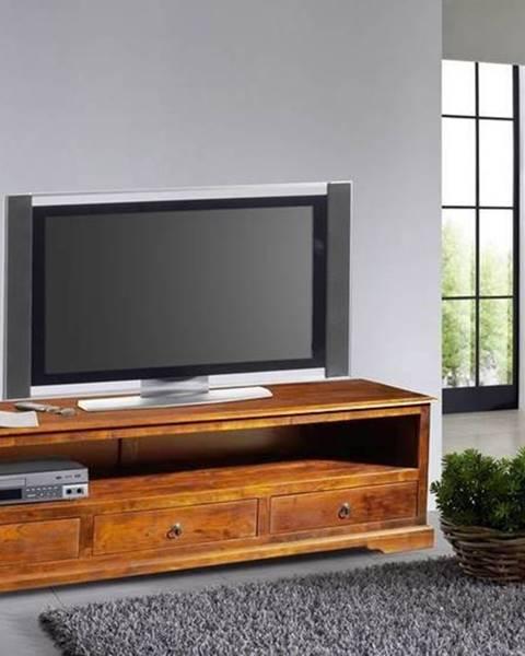 Bighome.sk CAMBRIDGE HONEY TV stolík 176x50 cm, akácia