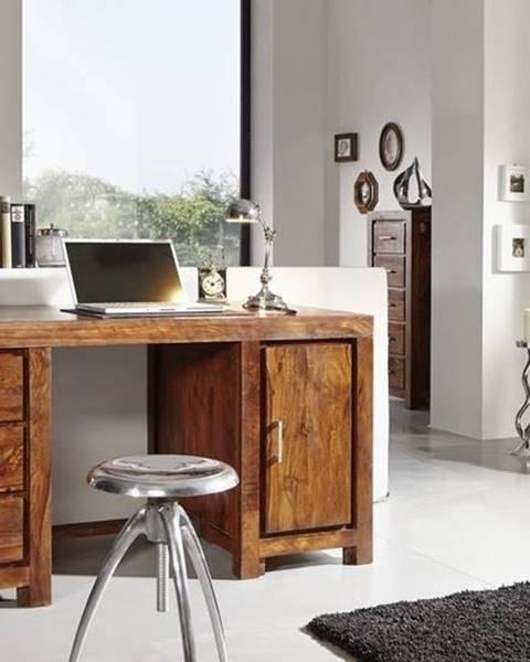 Bighome.sk DAKOTA Písací stôl 150x75 cm, palisander