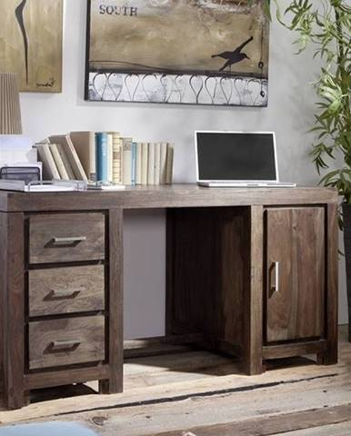 MONTANA Písací stôl 150x75 cm, palisander