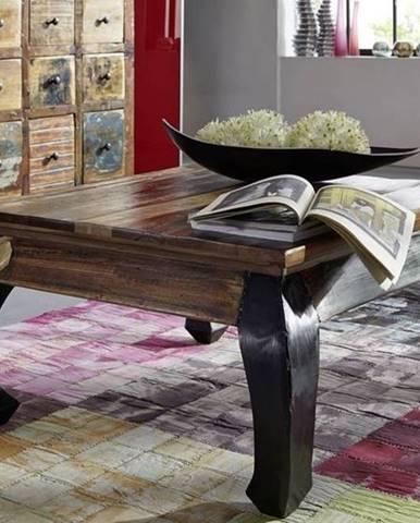 OLDTIME Konferenčný stolík 80x80 cm, staré drevo
