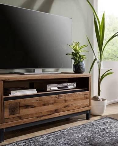 TIROL TV stolík 120x56, tmavohnedá, dub