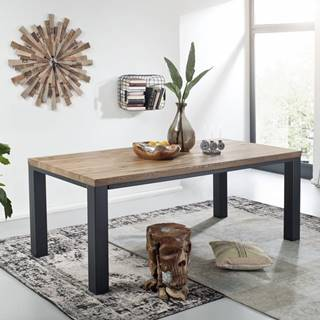 TIROL Jedálenský stôl 178x90 cm, tmavohnedá, dub