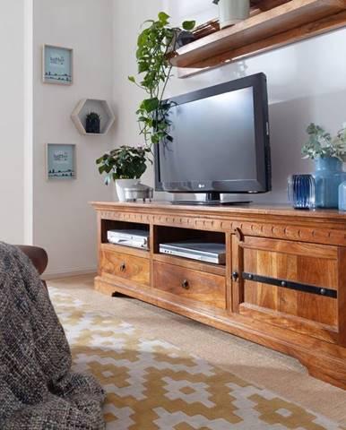 CAMBRIDGE HONEY TV stolík 180x55 cm, akácia