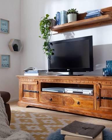 CAMBRIDGE HONEY TV stolík 200x55 cm, akácia