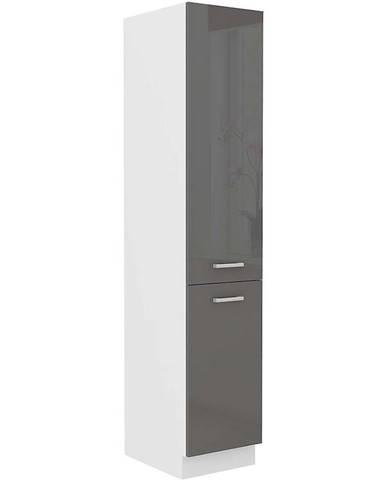 Skrinka do kuchyne SONIA šedý lesk 40DK-202 2F