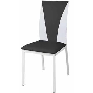 Stolička Sofia bielo- čierna 80028C-SQ