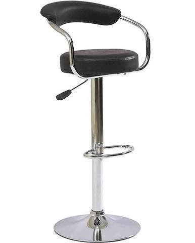 Barová stolička Strong čierna 7121
