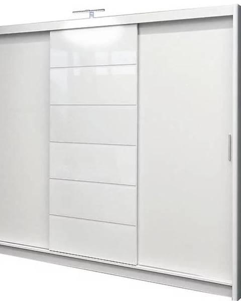 MERKURY MARKET Skriňa Malibu 250 cm biela