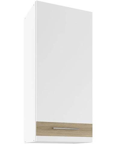 Skrinka do kuchyne Luna Lignum Bianco Super Mat UHO 45