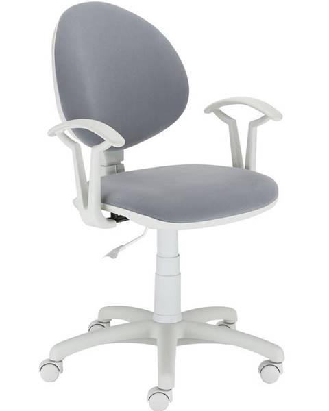 MERKURY MARKET Kancelárska stolička Fado White M-47