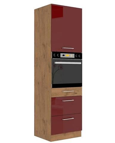 Skrinka do kuchyne Vigo bordová HG 60dps-210 3s 1f