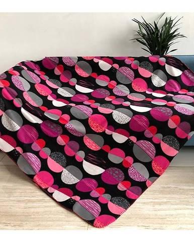 Deka CL 1804007 130x170 čierna-ružová