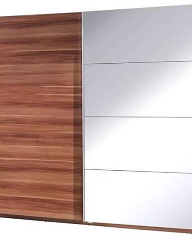 Skriňa  Twister 3 225 cm Kraft Wallis/zrkadlo