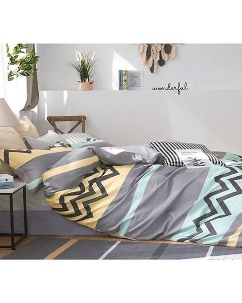 MERKURY MARKET Bavlnená saténová posteľná bielizeň ALBS-01166B/2 140X200 Lasher