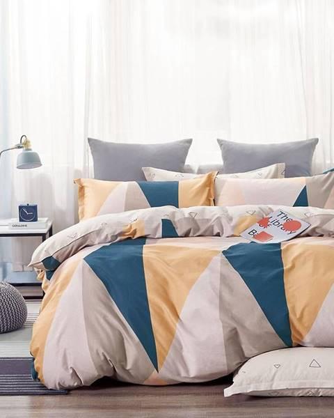 MERKURY MARKET Bavlnená saténová posteľná bielizeň ALBS-01198B 160x200