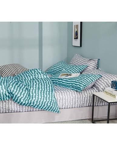 Bavlnená saténová posteľná bielizeň ALBS-01122B/2 140X200 Lasher