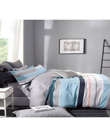 Bavlnená saténová posteľná bielizeň ALBS-01143B/2 140X200 Lasher