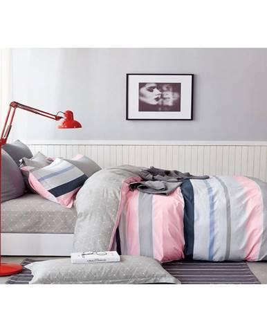 Bavlnená saténová posteľná bielizeň ALBS-01144B/2 140X200 Lasher