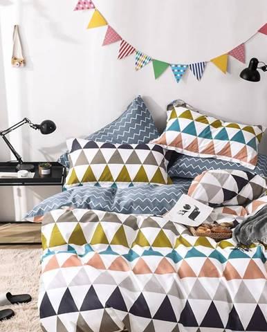 Bavlnená  saténová  posteľná  bielizeň  Albs-01146b/2  140x200