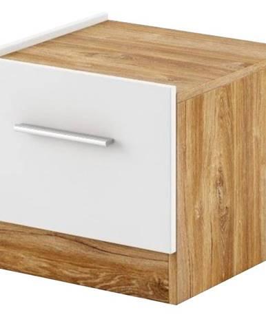 Lavý Nočný stolík DT-03L biely/dub styrling