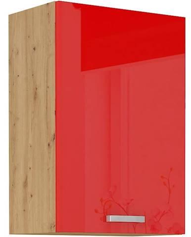 Skrinka do kuchyne Artisan červená lesk 50G-72 1F