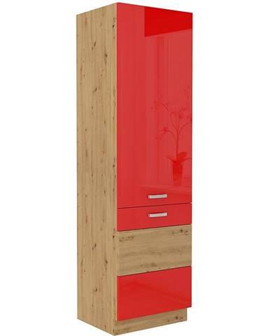 Skrinka do kuchyne Artisan červená lesk 60DK-210 2F