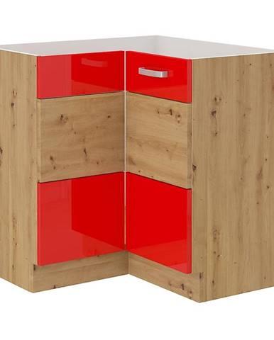 Skrinka do kuchyne Artisan červená lesk 89X89 DN 1F BB