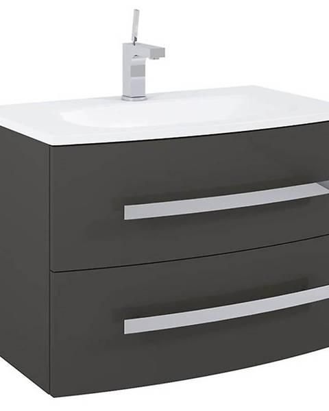 MERKURY MARKET Kúpeľňová skrinka pod umývadlo Perla antracit 80 2S