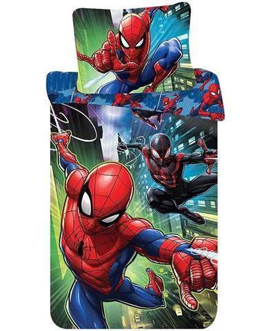 Bavlnená  saténová  posteľná  bielizeň  70x90/140x200  Spider-Man  05