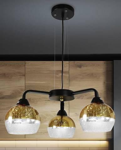 Cromina Gold Závesné svietidlo 3x60w E27 Čierna