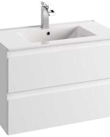 Kúpeľňová skrinka pod umývadlo Como D80 0D2S biela