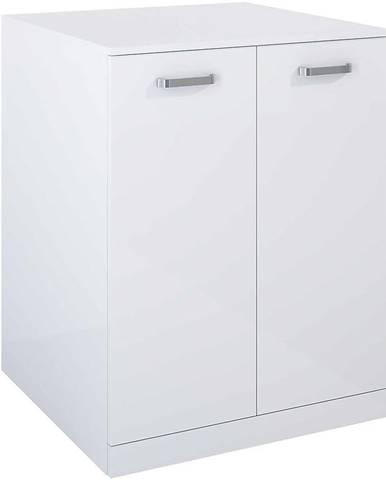 Kúpeľňová skrinka práčky Uno 70 2D white