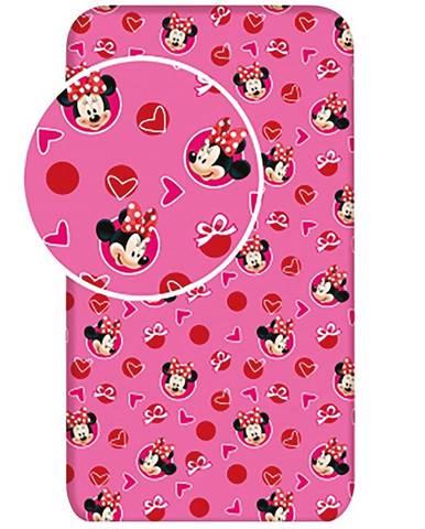 Plachta na postel 90x200 Minnie Hearts 02