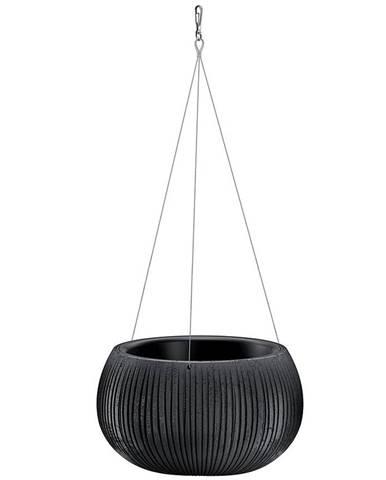 Kvetináč  Beton Bowl WS čierny DKB290WS-B411