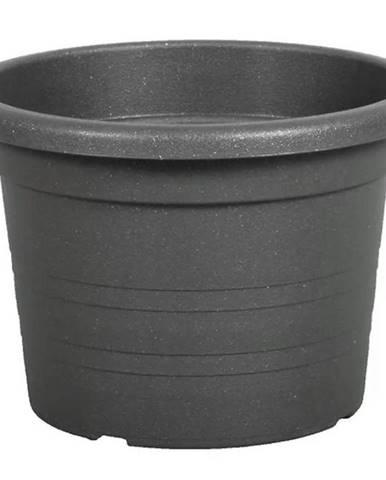Kvetináč Cilindro plastový antracitový d35x24 cm