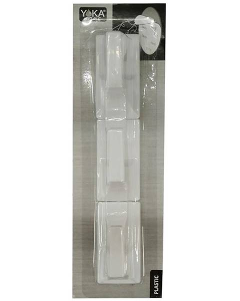 MERKURY MARKET Whi 3 rct plastový vešiak pg.whi 3