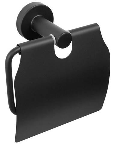 Vešiak na WC papier s klapkou carbon čierny CKB-7419 99