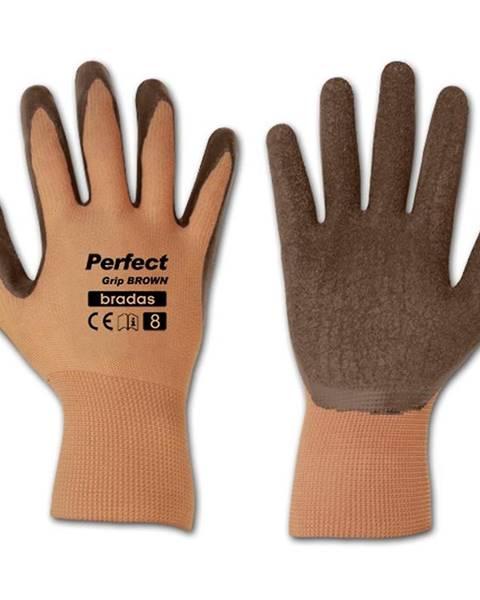 MERKURY MARKET Ochranné rukavice Perfect hnedý
