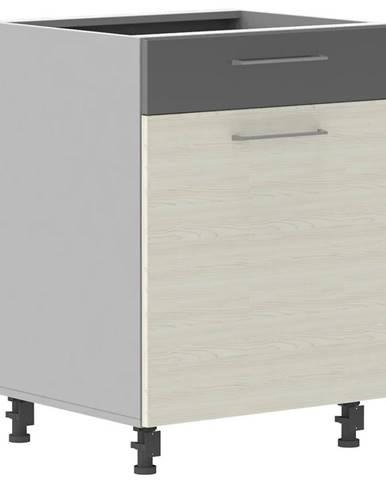Skrinka do kuchyne Next D60S/1 P bielená jedľa Douglas/antracit lesk