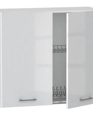 Skrinka do kuchyne Alvico W80 SU alu luxe blanco BB