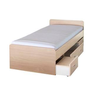Duet 80262 90 manželská posteľ s úložným priestorom javor