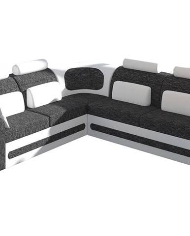 Bolzano L rohová sedačka s rozkladom a úložným priestorom čierna (Berlin 02)