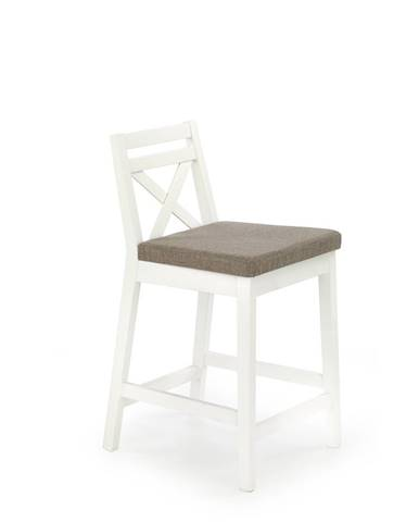 Borys Low barová stolička biela
