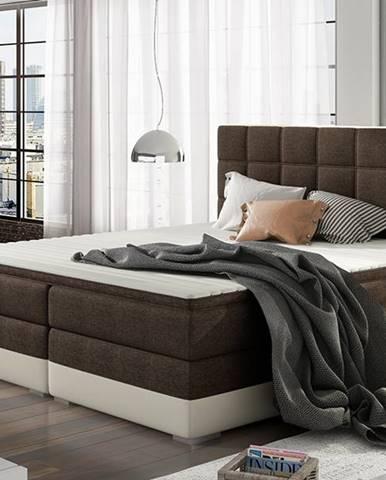 Dalino 180 čalúnená manželská posteľ s úložným priestorom tmavohnedá (Sawana 26)