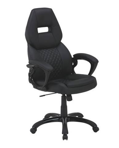 Hevyr kancelárske kreslo s podrúčkami čierna