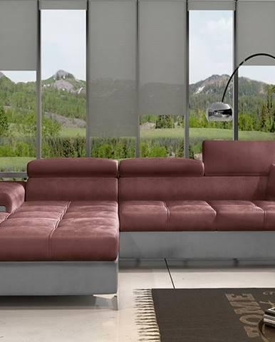 Rosino L rohová sedačka s rozkladom a úložným priestorom bordová