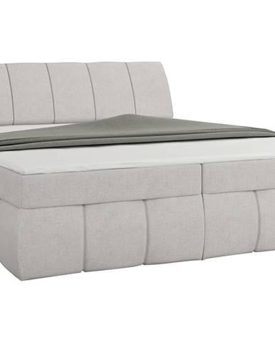 Vareso 140 čalúnená manželská posteľ s úložným priestorom svetlosivá (Orinoco 21)