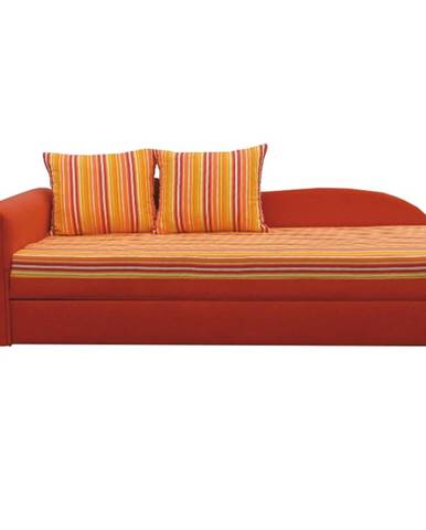 Aga D L rozkladacia pohovka s úložným priestorom oranžová