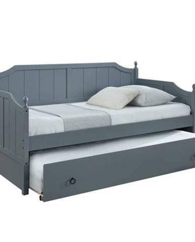 Baroba 90 rozkladacia posteľ s prísteľkou sivá
